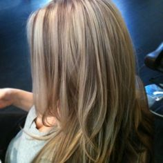 Beige highlights with warm brown lowlights
