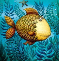 fish by Piotr Socha Animal Decor, Ocean Art, Fish Art, Whimsical Art, Beach Art, Art Pages, Cute Art, Painting Inspiration, New Art