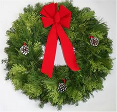 Christmas Wreath Made of Balsam and Pine 36 Inch ** This is an Amazon Affiliate link. Click on the image for additional details.