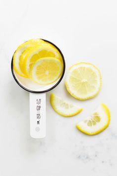 Lemons! http://www.stylemepretty.com/living/2015/05/11/fresh-summer-champagne-cocktail/   Photography: Alyssa Rosenheck - http://alyssarosenheck.com/