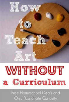 How to Teach Homeschool Art Without a Curriculum Tips and methods for teaching art in your homeschool without having to pay for an art curriculum Homeschool Curriculum, Online Homeschooling, Preschool Art, Home Schooling, Art School, High School, Middle School, School Tips, Teaching Art