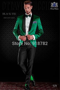 2017 Black Shawl Lapel Men Formal Green/Red/Royal Blue/Purple Suits With Pants Fashion Men Wedding Suits Groom Suit Prom Tuxedo