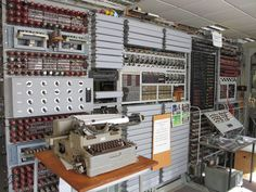 Colossus. Built 1943. First digital, programmable and electronic computing device.
