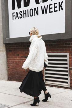 Fashion inspiration, New York Fashion Week, street style, Fall winter 2015/16 fur faux fur