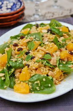 Muista syödä välillä: Kuskussalaatti appelsiinilla ja kikherneillä
