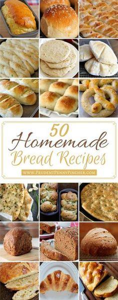 50 Homemade Bread Recipes