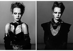 100 Heroin-Chic Captures - From Alluring Androgynous Attire to Finger-Flashing Editorials (TOPLIST)