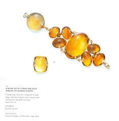 Doris Duke's Seaman Schepps citrine bracelet and ring at Christie's