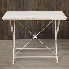 $159 Vintage Inspired Folding Table | dotandbo.com makeup dresser