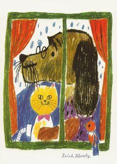 Károly Reich - tale illustration - aquarelle