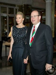 """March 2, 2014  Charity dinner, Monaco Last night, Prince Albert and Princess Charlene attended the charity dinner """"St David's Day"""" which was held at the Hotel de Paris in Monaco. The proceeds from the evening will be donated to the Foundation Princess Charlene."""