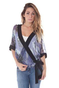 Camicia Donna John Galliano (BO-34 UR7613 66981 S627) colore Blu