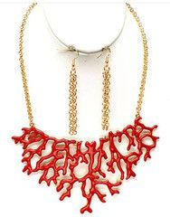"**Coupon Code!** This darling necklace is only $14.60, PLUS get 10% off your entire order & FREE shipping with discount code ""SAVE10"" at checkout! #necklace #coral"