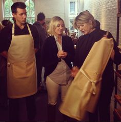 With the one and only Martha Stewart talking Birdkage Aprons