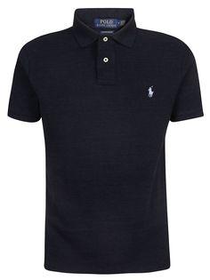 Polo Ralph Lauren Slim-fit Polo Shirt In Blue School Polo Shirts, Mens Polo T Shirts, Slim Fit Polo Shirts, Pique Polo Shirt, Ralph Lauren Shop, Ralph Lauren Slim Fit, Camisa Polo, Ralph Laurent, Cool Shirts