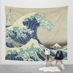 The Great Wave off Kanagawa Wall Tapestry by Palazzo Art Gallery | Society6