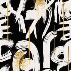 Sarja: Gestural abstraction tapettipaneeli Valmistaja: Mind The Gap Mallisto: Wallpaper collectables Materiaali: non-woven Leveys: 3 x 52 cm Rulla pituus: 3 m Kuviokohdistus: suora Kuviokorkeus: 300 cm Black And White Wallpaper, Gold Wallpaper, Modern Wallpaper, Black And White Abstract, Pattern Wallpaper, Amazing Wallpaper, Black White Gold, Gold And Black Background, Mind The Gap