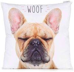 French Bulldog Woof Cushion ($35) | Ooh La La — 32 Fabulous French Bulldog Gifts | POPSUGAR Pets