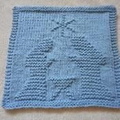 Nativity Dishcloth - via @Craftsy