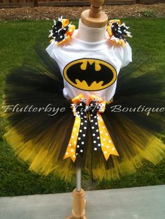 Bat Man- without the bows, so easy for fall dance! @Sydney Helton lets do it.