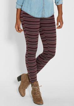 knit geometric print
