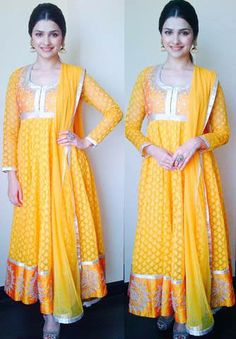 Prachi Desai beautiful in bright & sunny http://shop.AnitaDongre.com/ #SS14 #Anarkali