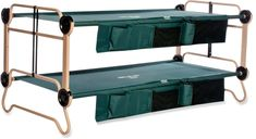 You've seen bunk beds for home, but how about for camping? The extra-large Disc-O-Bed Cam-O-Bunk cots help you get the whole family in a single tent and include organizers for books, bottles and more. Kids Camping Gear, Camping Cot, Van Camping, Family Camping, Outdoor Camping, Cot Bunk Bed, Sitting Bench, Dome Structure, Rv Camping Checklist