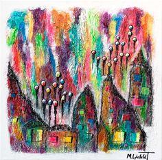 NEW PAINTING !  Suburbs III  60x60 cm  My website:   #art #painting #artbylonfeldt