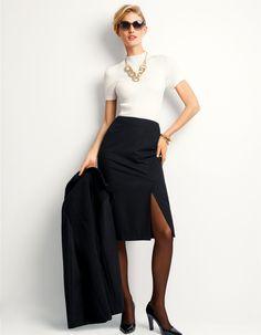 Schmaler Rock mit Gehschlitz in der Farbe schwarz - im MADELEINE Mode Onlineshop