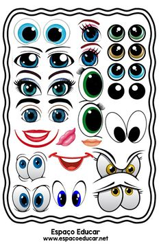 Doodle Monster, Doll Face Paint, Ballon Decorations, Face Template, Cartoon Eyes, Emoticons, Clay Pot Crafts, Eye Painting, Funny Drawings