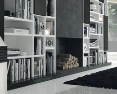 Black And White Bookcase Design Ideas One Total Photographs - Quoteko.com
