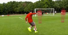 Arsenal star Mesut Ozil attempts to recreate Daniel Sturridge's wonder strike from Europa League final