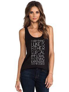 "Women's ""Everything I Like"" Vintage Racerback Tank by Fifty5 Clothing (Black) #InkedShop #tanktop #wordtee #style #fashion #tank"