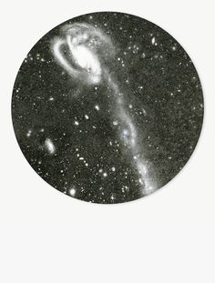 Mia Rosenthal, After Hubble Telescope: Tadpole Galaxy, Ink on paper mounted to panel, 16 in. diameter circle, Courtesy of the artist and Gallery Joe Telescope, Lens, Space, Gallery, Drawings, Artist, Tatuajes, Floor Space, Artists