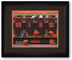 Use the code PINFIVE to receive an additional 5% discount off the price of the Cleveland Browns NFL Personalized Locker Room Print at SportsFansPlus.com