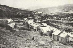 Shanty town, Kildonan 1869 during the gold rush.