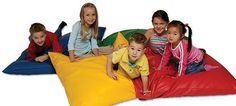 Jumbo 90cm Sqaure indoor AND outdoor Cushions, great for Kids and school... learning should be fun...