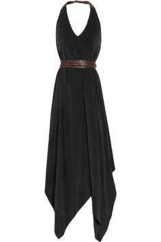 beautiful silk backless jumpsuit (looks like a dress to me!)