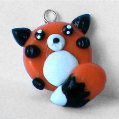 Chubby Fox Polymer Clay Charm