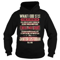 Janitor Custodian We Do Precision Guess Work Knowledge T-Shirts, Hoodies. BUY IT NOW ==► https://www.sunfrog.com/Jobs/Janitor-Custodian-Job-Title-T-Shirt-Black-Hoodie.html?id=41382