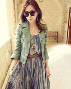 Stylish Solid Slim Zipper Lapel PU Women Jacket Discover and share your fashion ideas on misspool.com
