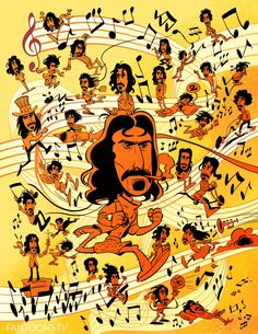 """Fantoons on Twitter: """"The many faces of Frank @zappa… """""""
