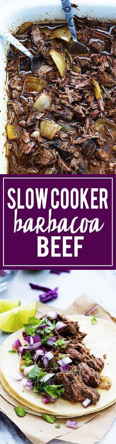 Slow Cooker Barbacoa Beef   Creme de la Crumb