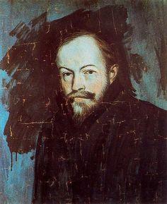 Portrait of Sebastià Junyent Sans, 1904 by Pablo Picasso. Expressionism. portrait
