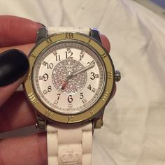 White Juicy Couture Watch Gently used and loved. Needs new battery Juicy Couture Jewelry