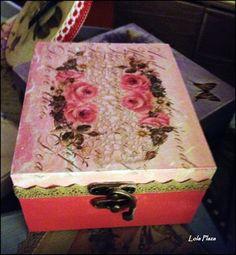 Caja puntillas y flores