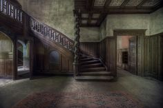 This large abandoned mansion house set deep in the woods had amazing décor - Andre Govia.