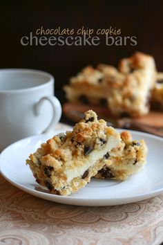 Chocolate Chip Cookie Cheesecake Bars via /dreamaboutfood/