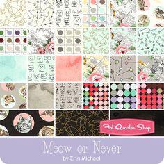 "Meow or Never Charm Pack  Erin Michael for Moda Fabrics  - Charm Packs & 5"" Squares  | Fat Quarter Shop"
