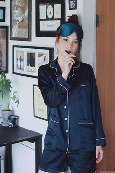 Japanese Fashion Blogger,MizuhoK,OOSILK-Sleep wear,100%silk pajamas Night Suit, Night Wear, Babydoll, Midi Skirt Outfit, Cute Sleepwear, Pajama Outfits, Sleep Dress, Silk Pajamas, Pajamas Women